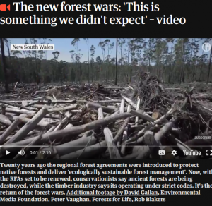Forest wars video, 20/3/2018